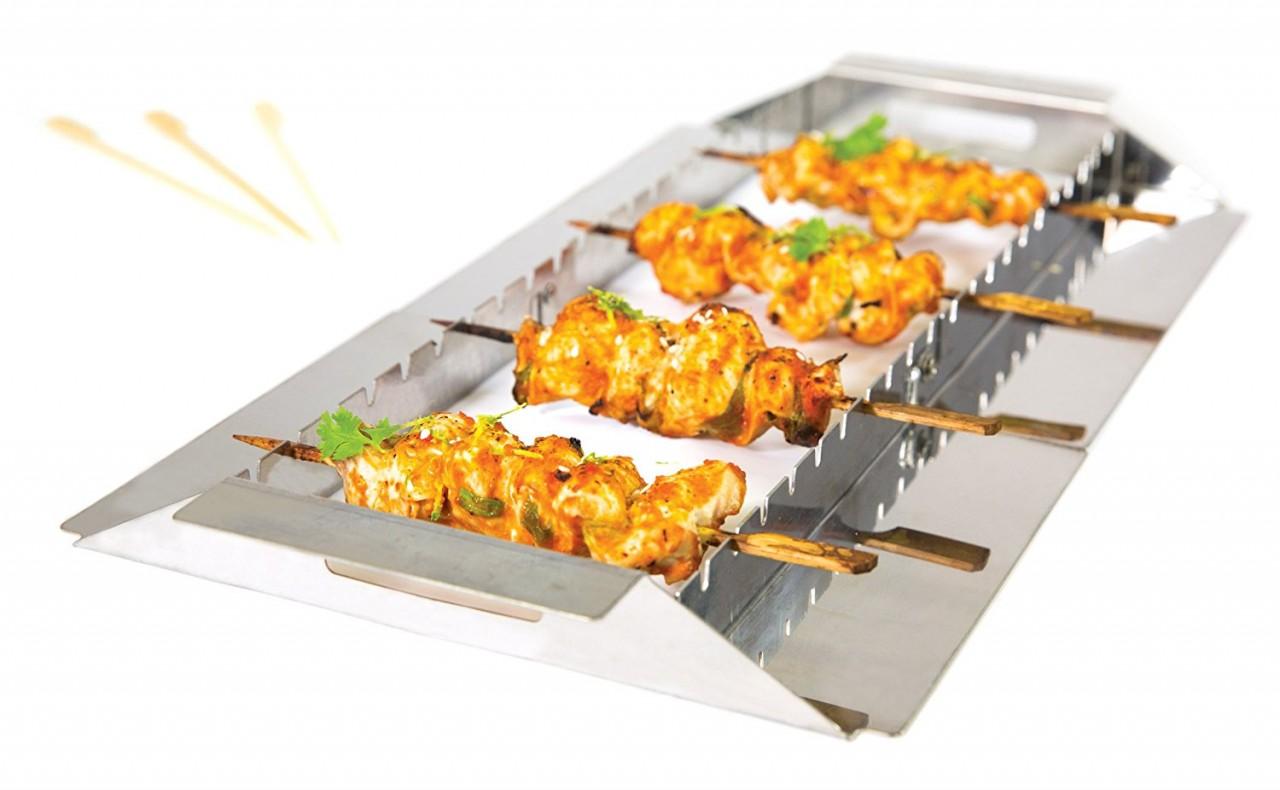 Broil king supporto per spiedini e arrosticini for Griglia per barbecue bricoman