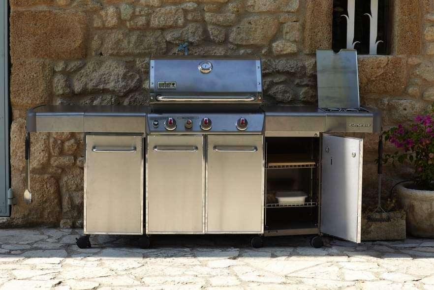 Modulo da cucina esterno per weber genesis s 330 barbecuemania - Cucine da terrazzo ...