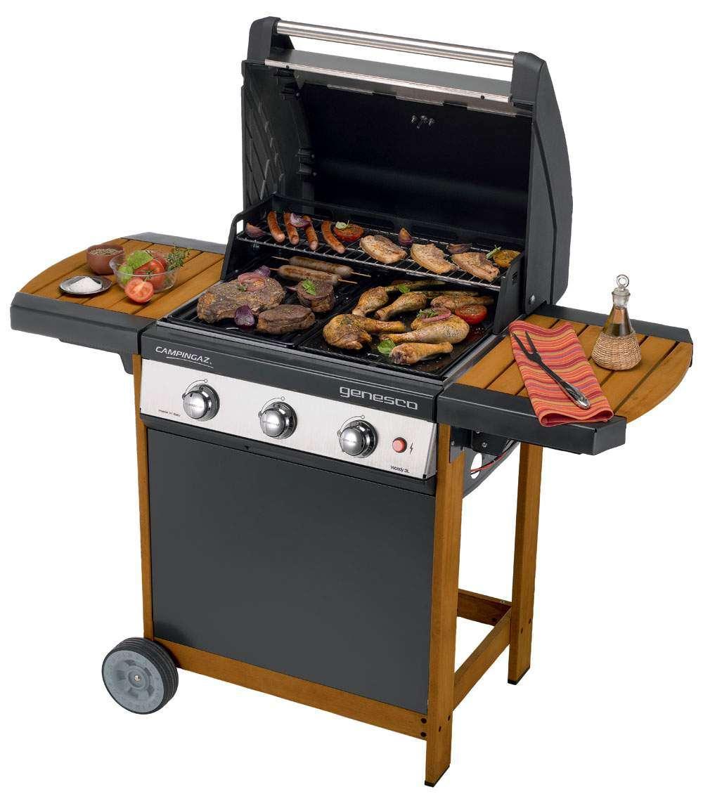 campingaz genesco 3 woody l barbecuemania. Black Bedroom Furniture Sets. Home Design Ideas